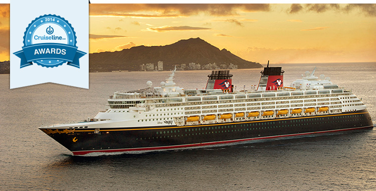 Disney Wonder off the coast of Oahu, Hawaii